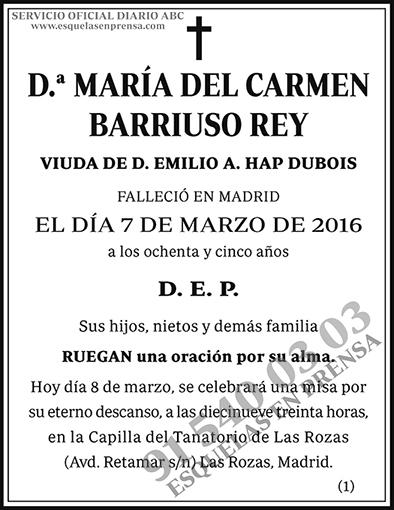 María del Carmen Barriuso Rey